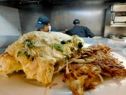One of the famous omelettes at Georgie V's Pancakes & More in Northbrook