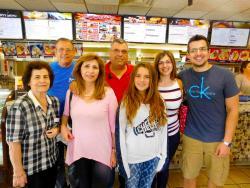 Family enjoying lunch at Goodi's Restaurant in Niles