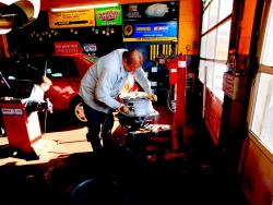Hard working crew at Grendel's Oil & Auto Repair in Niles