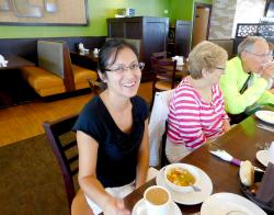 Happy customers enjoying lunch at Kappy's American Grill in Morton Grove