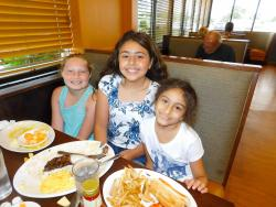 Young guests enjoying lunch at Kappy's American Grill in Morton Grove