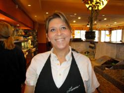 Friendly server at Lumes Pancake House in Palos Heights