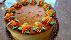The Pumpkin Cheesecake at Omega Restaurant & Pancake House in Downers Grove