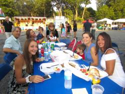 Family enjoying Greek Fest of Palos Hills at Sts. Constantine & Helen