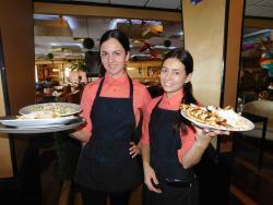 Friendly staff at Papagalino Cafe & Pastry Shop in Niles