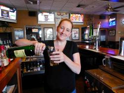 Friendly bar server at Paps Ultimate Bar & Grill in Mount Prospect