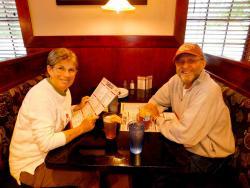 Couple enjoying dinner at Pub 83 in Long Grove