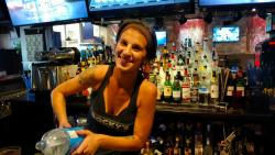 Friendly bar staff at Rocky Vander's Cafe & Bar in Prospect Heights