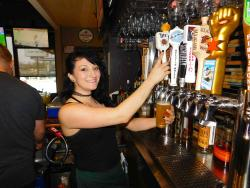 Friendly server at Union Ale House in Prospect Heights