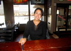 Loyal customer enjoying lunch at Union Ale House in Prospect Heights