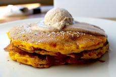The famous Pumpkin Spiced Pancakes at Alexander's Cafe in Elgin