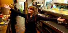 Friendly server at Andrew's Open Pit & Spirits in Park Ridge