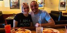 Couple enjoying lunch at Andrew's Open Pit & Spirits in Park Ridge