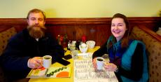 Couple enjoying lunch at Annie's Pancake House in Skokie