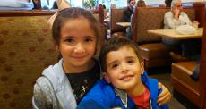 Young guests enjoying lunch at Annie's Pancake House in Skokie