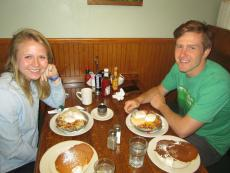 Customers enjoying breakfast at Billy's Pancake House in Palatine
