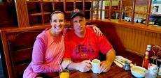 Couple enjoying lunch at Billy's Pancake House in Palatine