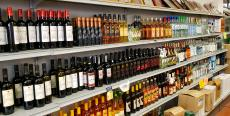 Nice selection of wines and liquors at Brillakis Foods in Niles