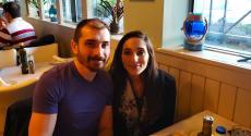 Couple enjoying dinner at Brousko Authentic Greek Cuisine in Schaumburg