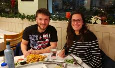 Couple enjoying dinner at Brousko Authentic Greek Cuisine in Schaumburg