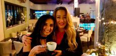 Enjoying Greek Coffee at Brousko Authentic Greek Cuisine in Schaumburg