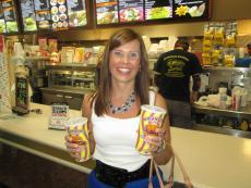Another happy customer at Burger Baron Restaurant in Arlington Heights