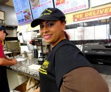 Friendly staff at Burger Baron Restaurant in Chicago