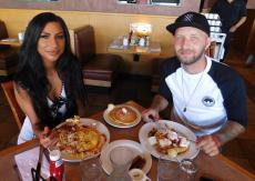 Couple enjoying breakfast at Butterfield's Pancake House & Restaurant in Naperville