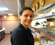 Friendly server at Butterfield's Pancake House & Restaurant in Northbrook