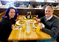 Couple enjoying breakfast at Butterfield's Pancake House & Restaurant in Oak Brook Terrace