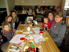 Family enjoying lunch at Butterfield's Pancake House & Restaurant in Oakbrook Terrace