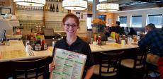 Friendly server at Butterfield's Pancake House & Restaurant in Oak Brook Terrace