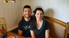 Couple enjoying lunch at Butterfield's Pancake House & Restaurant in Wheaton