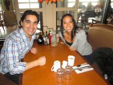 Couple enjoying breakfast at Butterfield's Pancake House & Restaurant in Wheaton
