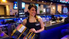Friendly server at Chaser's Sports Bar & Grill in Schiller Park