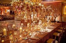 Beautifully designed ballroom at Concorde Banquets in Kildeer
