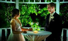 Newlyweds enjoying their wedding day at Concorde Banquets in Kildeer