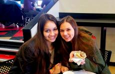 Friends enjoying lunch at Craving Gyros in Lake Zurich