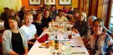 Enjoying ladies' luncheon at Demetri's Greek Restaurant in Deerfield