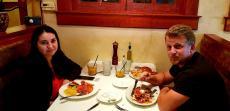 Couple enjoying lunch at Demetri's Greek Restaurant in Deerfield
