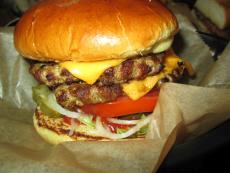 The famous double cheeseburger at Dengeos in Skokie