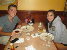 Friends enjoying breakfast at Downers Delight Pancake House & Restaurant in Downers Grove