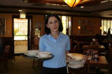 Friendly server at Downers Delight Pancake House & Restaurant in Downers Grove