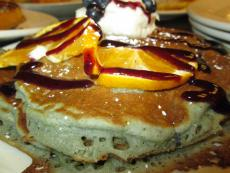 The famous pancakes at Eggs Inc. Cafe in Chicago, Streeterville