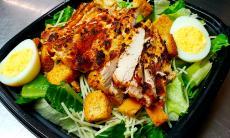 The famous Chicken Caesar Salad at Franksville Restaurant in Chicago