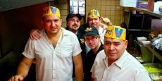 Hard working crew at Franksville Restaurant in Chicago