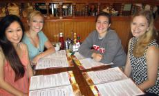 Friends ready to order at Billy's Pancake House Restaurant in Palatine