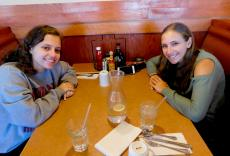 Friends enjoying lunch at Georgie V's Pancakes & More in Northbrook