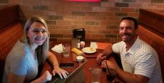 Couple enjoying lunch at Jameson's Charhouse in Arlington Heights