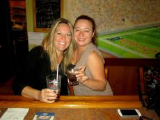 Friends having fun in the lounge at Jimmy's Restaurant in Des Plaines